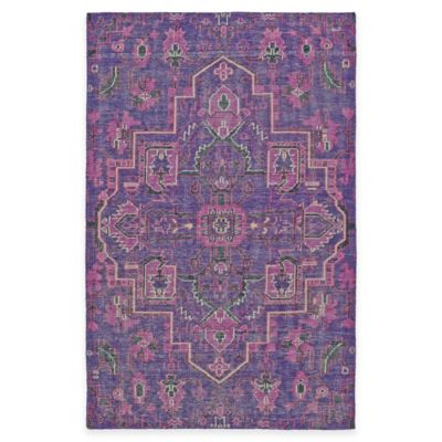 Kaleen Relic Medallion 5-Foot x 8-Foot Area Rug in Purple
