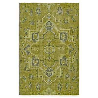 Kaleen Relic Medallion 5-Foot 6-Inch x 8-Foot Area Rug in Green
