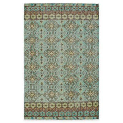 Kaleen Relic Maddox 2-Foot x 3-Foot Accent Rug in Turquoise