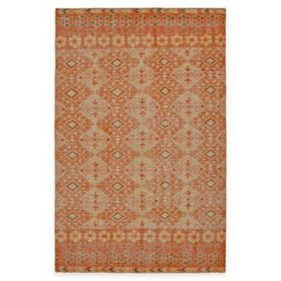 Kaleen Relic Maddox 5-Foot 6-Inch x 8-Foot Area Rug in Orange