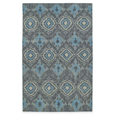 Kaleen Relic Ikat 5-Foot 6-Inch x 8-Foot Area Rug in Charcoal