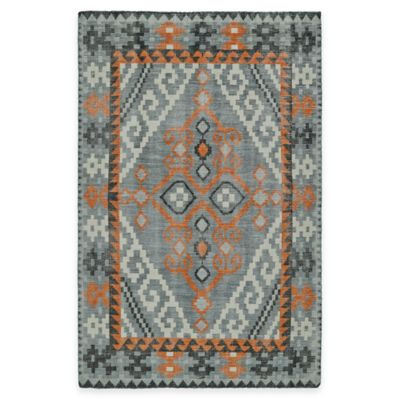 Kaleen Relic Diamond 4-Foot x 6-Foot Area Rug in Grey