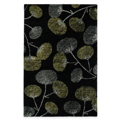 Kaleen Montage Blooms 8-Foot x 10-Foot Area Rug in Black