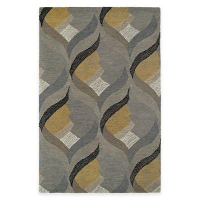 Kaleen Montage Hourglass 5-Foot x 7-Foot 9-Inch Area Rug in Grey
