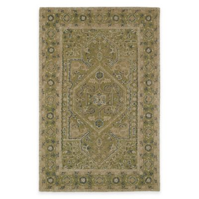 Kaleen Montage Center Medallion 5-Foot x 7-Foot 9-Inch Area Rug in Green