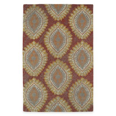 Kaleen Montage Medallions 8-Foot x 10-Foot Area Rug in Red