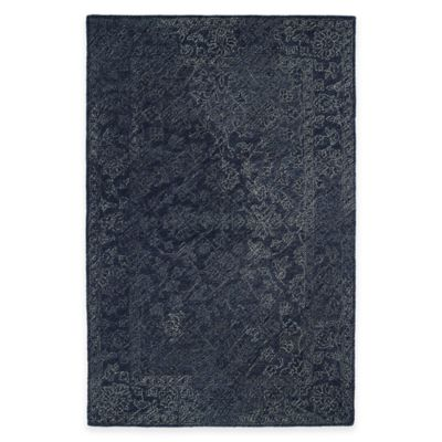 Kaleen Montage Celia 3-Foot 6-Inch x 5-Foot 6-Inch Area Rug in Denim