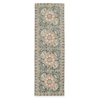 Kaleen Montage Tiles 2-Foot 6-Inch x 8-Foot Runner in Grey