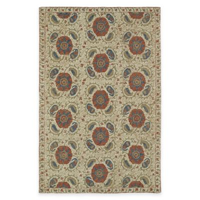 Kaleen Montage Tiles 3-Foot 6-Inch x 5-Foot 6-inch Area Rug in Camel