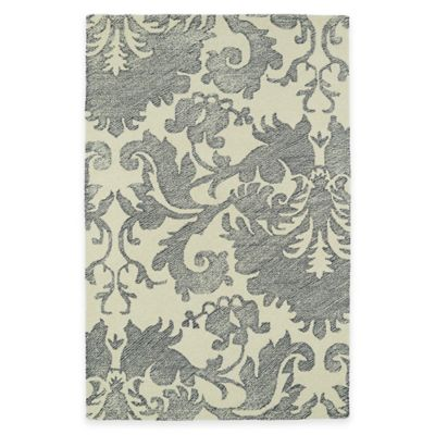 Kaleen Montage Damask 3-Foot 6-Inch x 5-Foot 6-Inch Runner in Grey