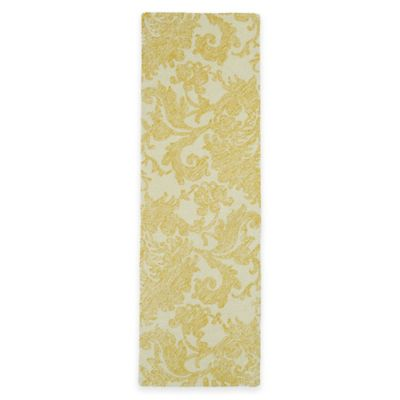 Kaleen Montage Damask 2-Foot 6-Inch x 8-Foot Runner in Gold