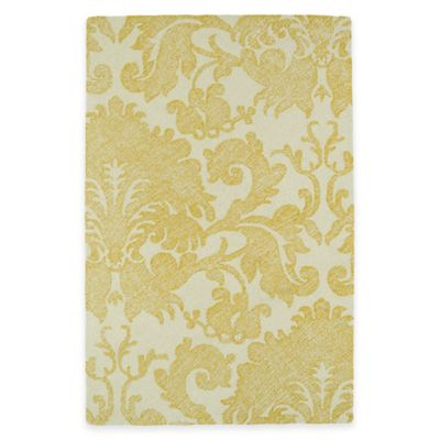 Kaleen Montage Damask 5-Foot x 7-Foot 9-Inch Area Rug in Gold