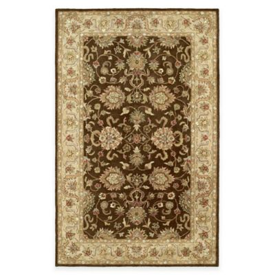 Kaleen Heirloom Melanie 4-Foot x 6-Foot Area Rug in Brown