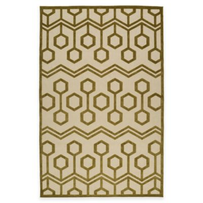 Kaleen Five Seasons Geocomb 2-Foot 1-Inch x 4-Foot Indoor/Outdoor Accent Rug in Brown