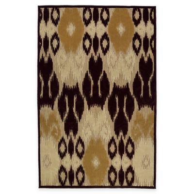 Kaleen Five Seasons Ikat 8-Foot 8-Inch x 12-Foot Indoor/Outdoor Area Rug in Brown