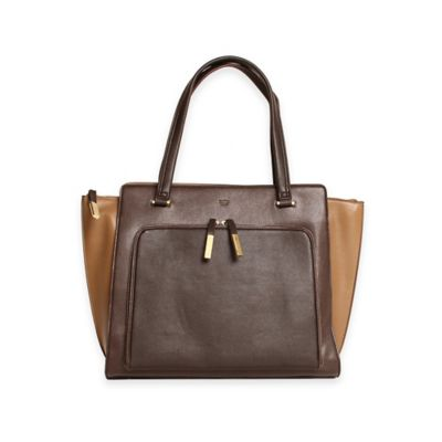 Tutilo Tech Charging Station Wing Tote Bag in Chocolate