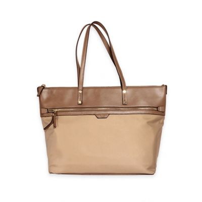 Tutilo Take Away Top-Zip Tote with Wristlet in Taupe