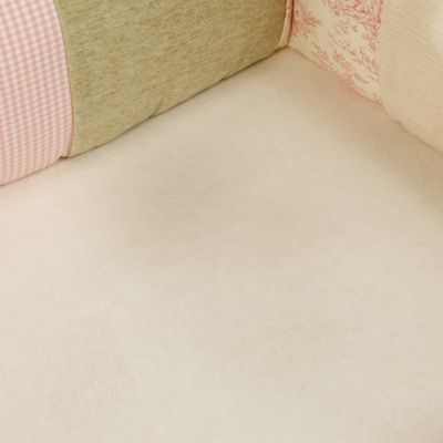 Glenna Jean Isabella Softee Fitted Crib Sheet in Cream