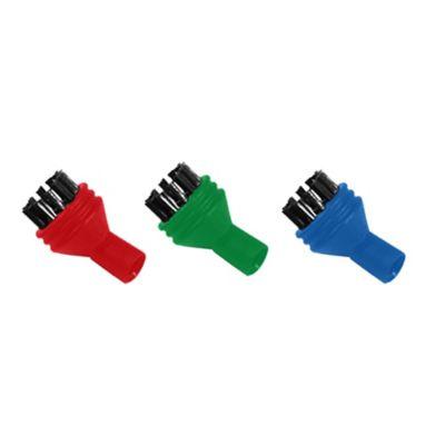 Polti Vaporetto 3-Pack Nylon Colored Brushes for Vaporetto Handy and Go