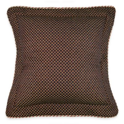 Austin Horn Classics Ashley Chenille European Pillow Sham in Black/Gold
