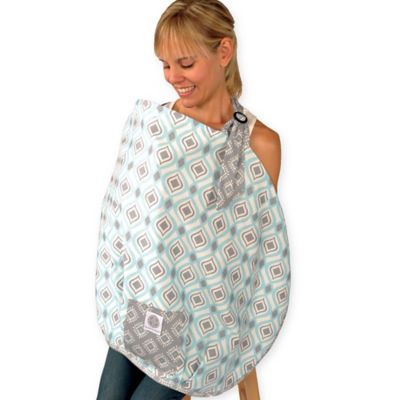Teal Gray Nursing Cover