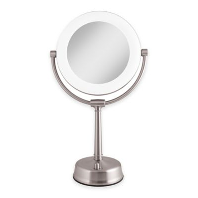 Zadro™ 1X/10X Fluorescent Sunlight Vanity Mirror in Satin Nickel