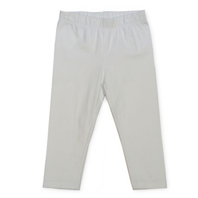 Size 2T Solid Legging in White