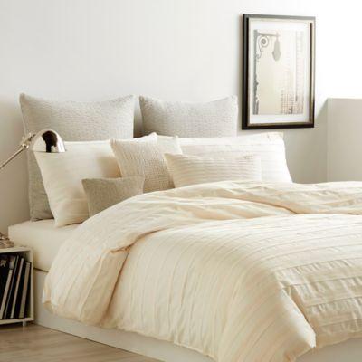 DKNY Loft Stripe King Comforter Set in Chalk