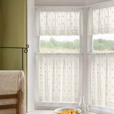 Daisy 24-Inch Window Curtain Tier in Ivory