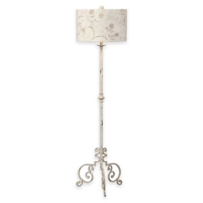 Uttermost Baudette Buffet Lamp in White with Shade