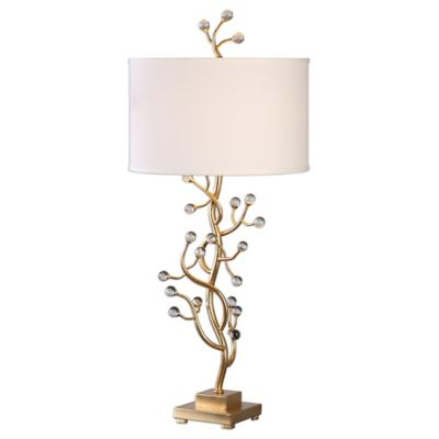 Metallic Gold with Linen Shade Lamps