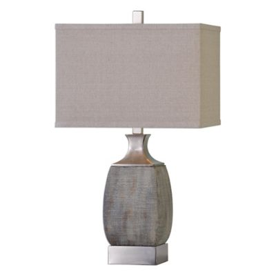 Rust Bronze with Linen Shade Lamps