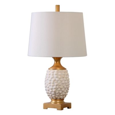 Uttermost Lazio Shell Table Lamp in Ivory with Linen Shade
