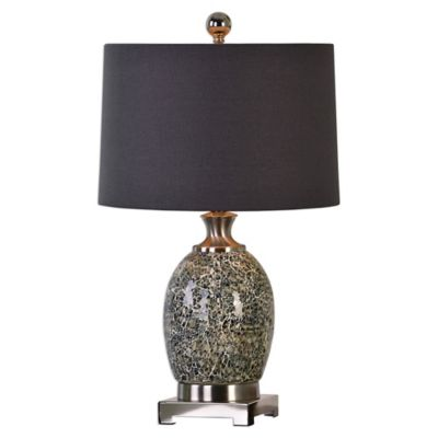 Grey with Linen Shade Lamps