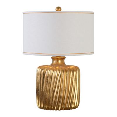 Uttermost Marigold Table Lamp in Gold with Linen Shade