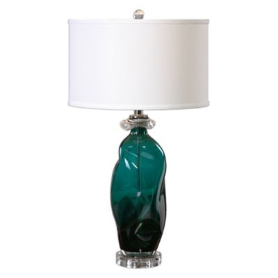 Uttermost Rotaldo Glass Table Lamp in Blue/Green