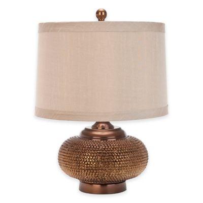 Safavieh Alexis Beaded Table Lamp in Bronze