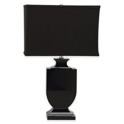 Safavieh Darcy Table Lamp in Black with Satin Shade