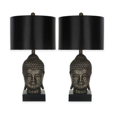 Safavieh Golden Buddah Table Lamps in Gold (Set of 2)