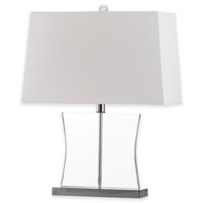 Safavieh Salcha Clear Table Lamp with White Shade