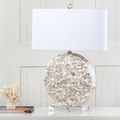 Safavieh Lindsey Mosaic Table Lamp with Textured Shade