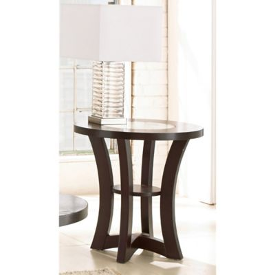 Steve Silver Co. Alice End Table in Espresso