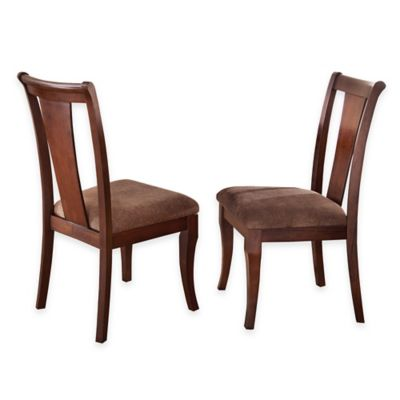 Steve Silver Aubrey Side Chairs in Brown Cherry (Set of 2)