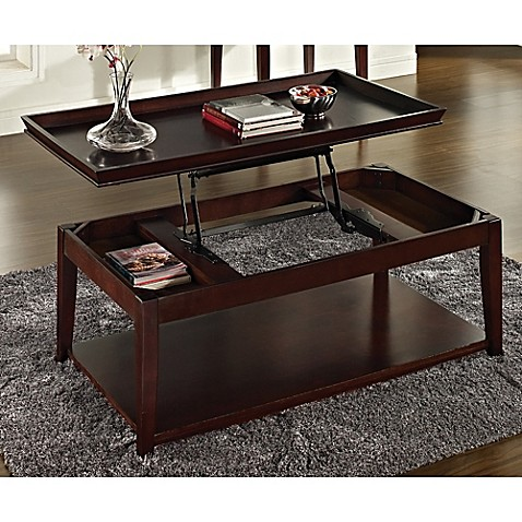 Steve Silver Co Clemson Lift Top Cocktail Table In Merlot