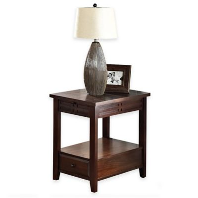 Steve Silver Co. Crestline Chairside End Table in Cherry