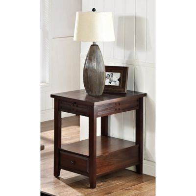 Steve Silver Co. Crestline End Table in Cherry
