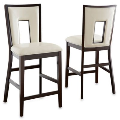 Steve Silver Co. Delano Counter Chairs in Espresso Cherry (Set of 2)