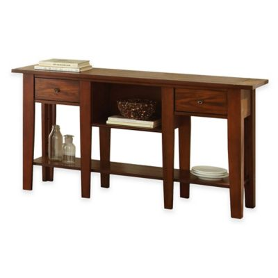 Steve Silver Co. Desoto Sofa Table in Oak