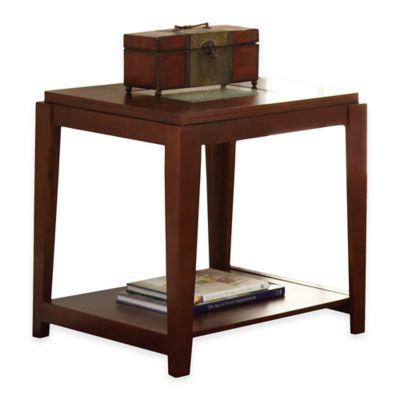 Steve Silver Co. Ice End Table in Cherry
