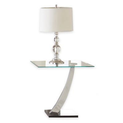 Steve Silver Co. Kaylee End Table in Stainless Steel
